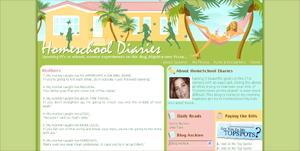Homeschool Diaries Blogger Design